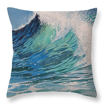 Sparkling Turquoise Throw Pillow