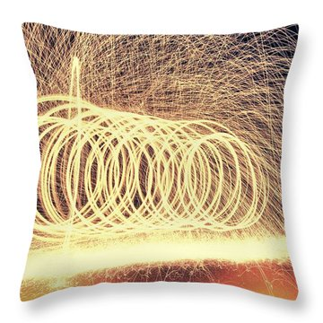 Sparks Throw Pillow by Dan Sproul