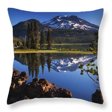 Sparks Lake Sunrise Throw Pillow