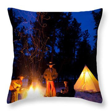 Sparks Of Inspiration Throw Pillow by Inge Johnsson