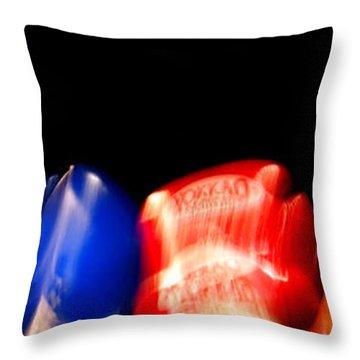 Sparring Throw Pillow by Kaleidoscopik Photography