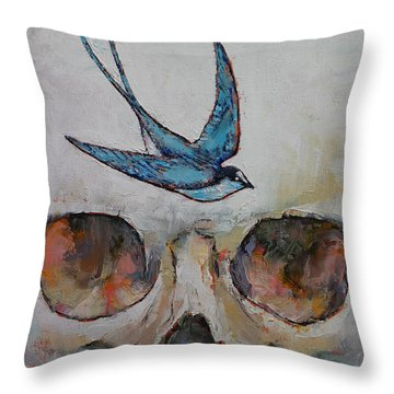 Sparrow Throw Pillow by Michael Creese