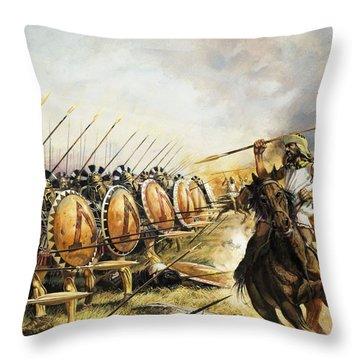 Spartan Army Throw Pillow
