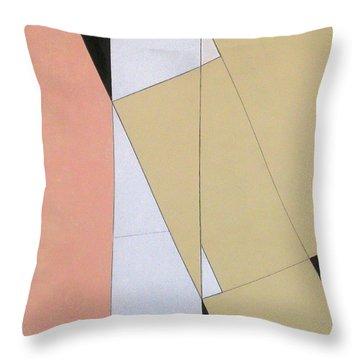 Spatial Relationship Throw Pillow by George Dannatt