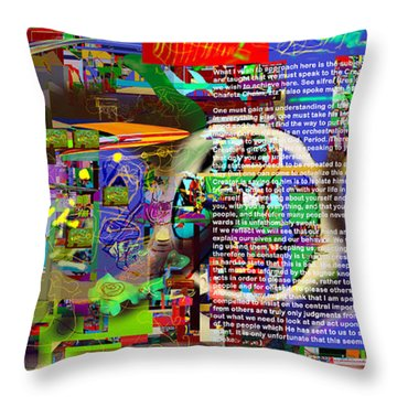 Speak To Hashem Throw Pillow by David Baruch Wolk
