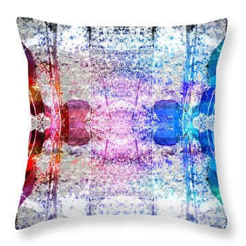 Speakers 3 Throw Pillow