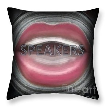 Speakers Throw Pillow by Catherine Lott