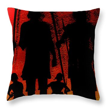 Throw Pillow featuring the photograph Spear Brothers Right Of Passage by Joseph Hollingsworth