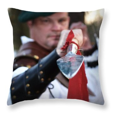 Spear Of The Scot Throw Pillow by Tara Potts