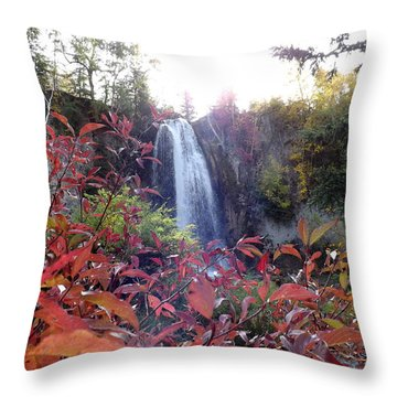 Spearfish Falls Throw Pillow