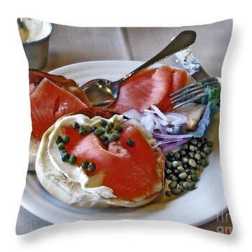 Special Birthday Breakfast Throw Pillow by Chris Anderson