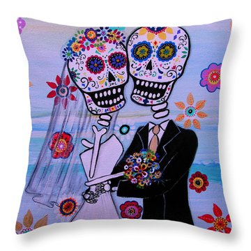 Special Day Dia De Los Muertos Wedding Throw Pillow