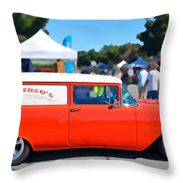 Special Delivery Throw Pillow by David Lawson