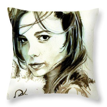 Special Friend Portrait Throw Pillow