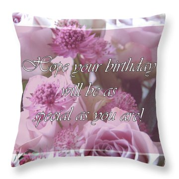 Special Throw Pillow by Randi Grace Nilsberg