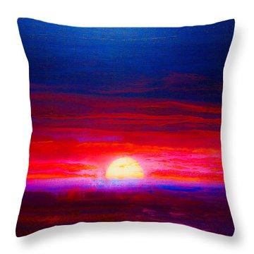 Special Sunset 2008 Throw Pillow