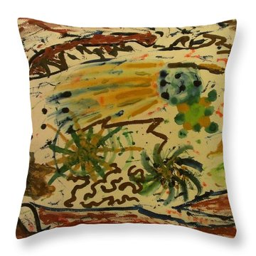 Throw Pillow featuring the painting Evolution by Thomasina Durkay