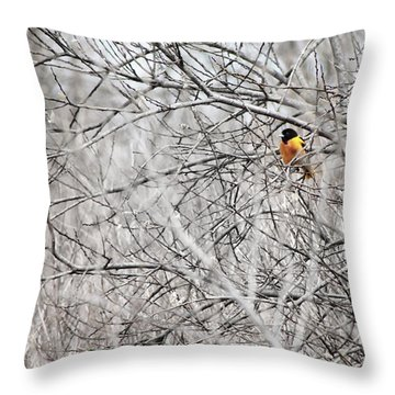 Speck Of Orange Throw Pillow