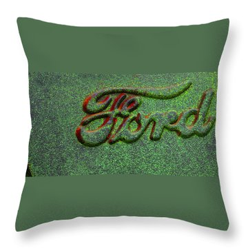 Speckled Ford Throw Pillow by Jean Noren