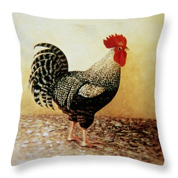 Speckled Rooster  Throw Pillow