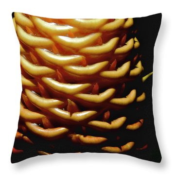 Spectablis Ginger Throw Pillow by Jocelyn Kahawai