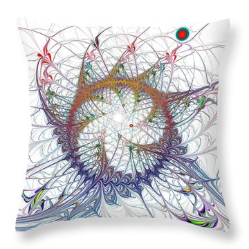 Spectacle Throw Pillow by Anastasiya Malakhova