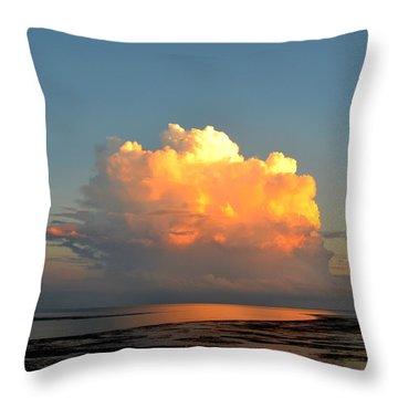 Spectacular Cloud In Sunset Sky Throw Pillow