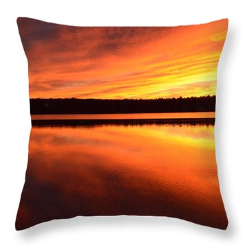 Throw Pillow featuring the photograph Spectacular Orange Mirror by Cindy Greenstein