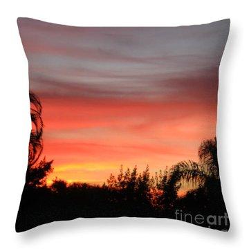 Spectacular Sky View Throw Pillow by Oksana Semenchenko