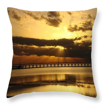 Throw Pillow featuring the photograph Spectacular Sunrise Two by Linda Cox