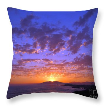 Throw Pillow featuring the photograph Spectacular Sunset  by Debra Thompson