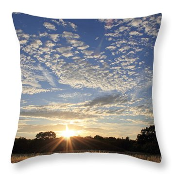 Spectacular Sunset England Throw Pillow