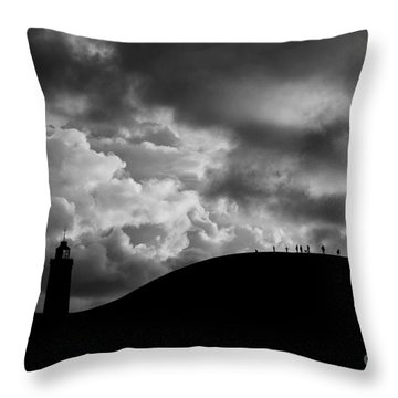 Spectators To The Storm Throw Pillow