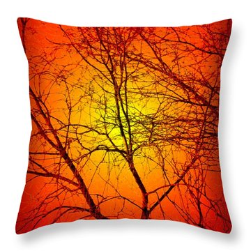 Spectral Sunrise Throw Pillow