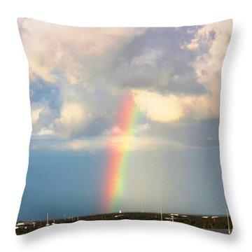 Throw Pillow featuring the photograph Spectrum Of Light by Judy Palkimas