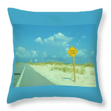 Speed Hump Throw Pillow