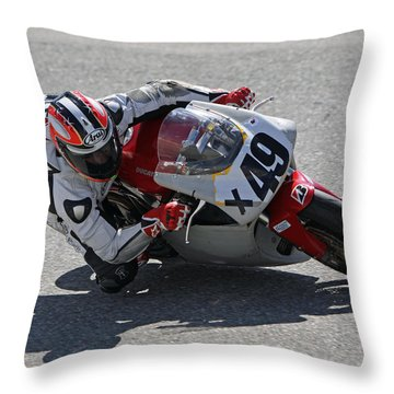 Throw Pillow featuring the pyrography Speed In The Corner by Shoal Hollingsworth
