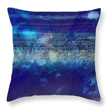 Speed Of Thought Throw Pillow by Bedros Awak
