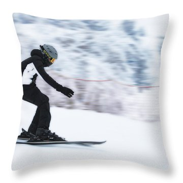 Speed On Snow Throw Pillow by Vlad Baciu
