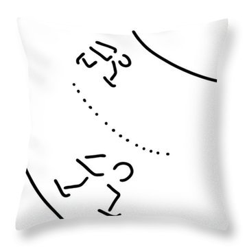 Speed Skating There Ice-skate Runners Throw Pillow