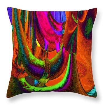 Spelunking On Venus Throw Pillow by Alec Drake