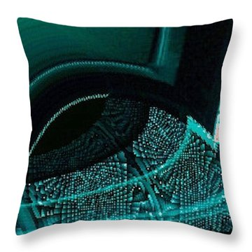 Throw Pillow featuring the digital art Sperical-texture Zone 2  by Lyle Crump