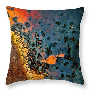 Spew Throw Pillow by Leanna Lomanski
