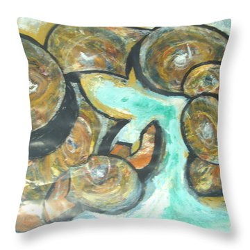 Spheres And Kabbalah Throw Pillow by Esther Newman-Cohen