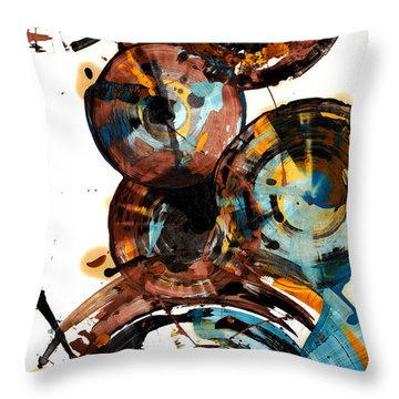 Throw Pillow featuring the painting Spherical Happiness Series - 993.042212 by Kris Haas