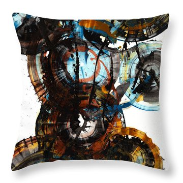 Throw Pillow featuring the painting Spherical Joy Series - 995.042212 by Kris Haas