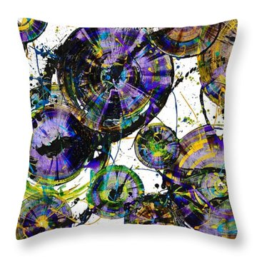 Throw Pillow featuring the painting Spherical Purple Haze - 1510.021413 by Kris Haas