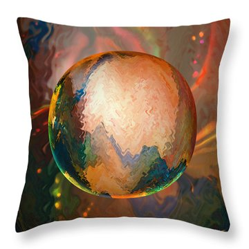 Sphering Lunar Vibrations Throw Pillow