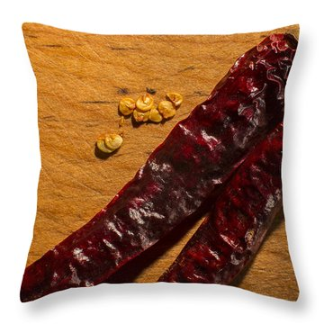 Spice It Up Throw Pillow by Andrew Pacheco