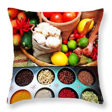 Spice Up Your Life Throw Pillow